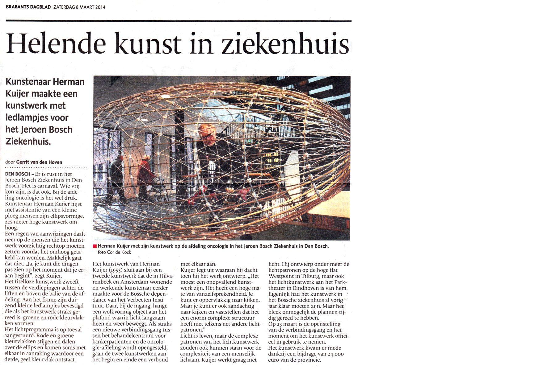 Helende kunst in ziekenhuis - Brabants Dagblad