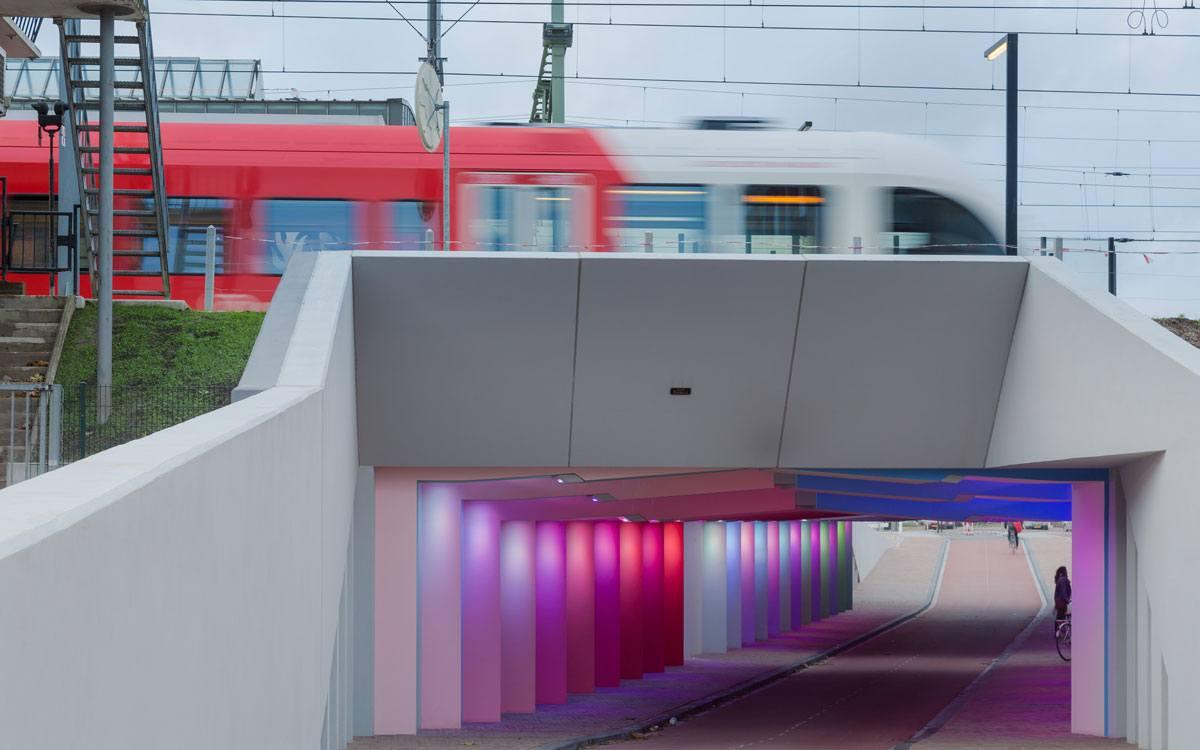 Zutphen / Kostverloren - Veiligheid door lichtkunstwerk
