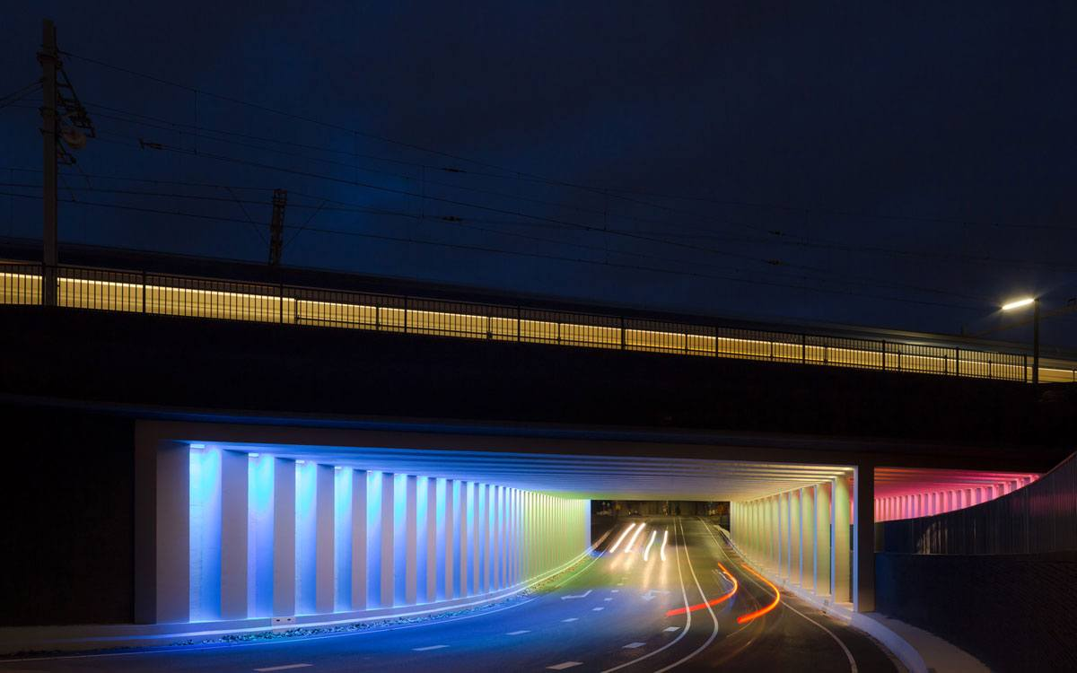 Zutphen / Marstunnel - Light-artist Herman Kuijer